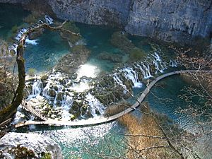 Plitvice Lakes, Barrier between Gavanovac and Kaluderovac