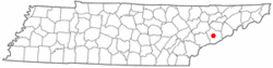Location of Pigeon Forge, Tennessee