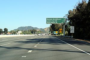 CA 23 overlap US 101 Ventura Freeway