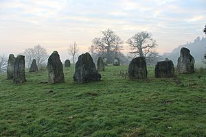 Hascombe Hill stone circle