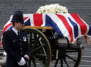 Margaret Thatcher funeral gun carriage X8A2566