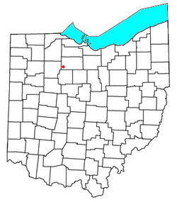 Location of Alvada, Ohio