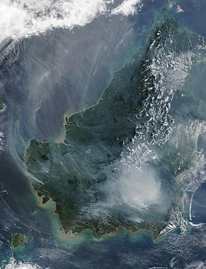 Borneo fires and smoke, 2002