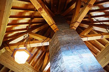 Fireplace column - Timberline Lodge Oregon