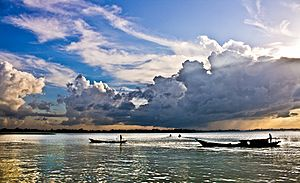 Meghna River by Mashroor Nitol
