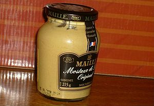 Mustard French condiment