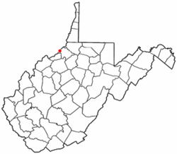 Location of Friendly, West Virginia