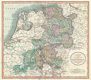 1801 Cary Map of Westphalia, Germany - Geographicus - Westphalia-cary-1799
