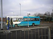 Arriva bus in Burton on Trent, 13 March 2010