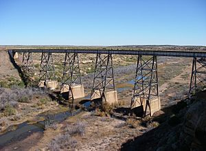 Canadian River Railroad Bridge Logan New Mexico 2010