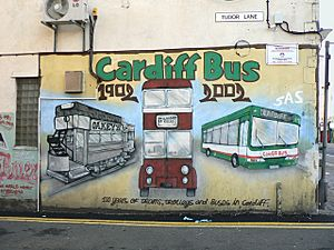 Cardiff bus 1902 - 2002 - geograph.org.uk - 1605126