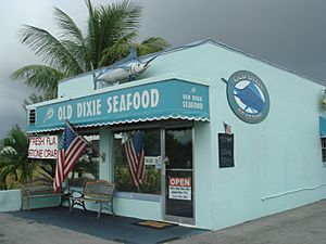 Old Dixie Seafood exterior, Boca culture 001