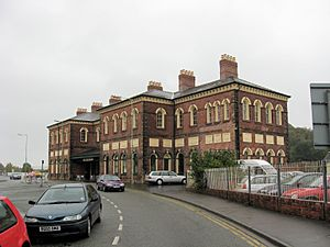 Oswestry - The former station and Cambrian Railways headquarters