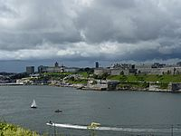 Plymouth hoe from mountbatten 2
