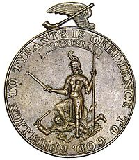 Rebellion to Tyrants colonial medal Virginia