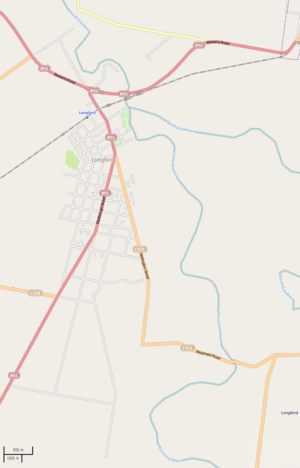 Street Map of Longford, Tasmania, Australia
