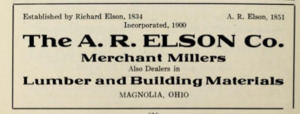 The A R Elson Co - Merchant millers - Lumber and building materials - Magnolia Ohio 1915f