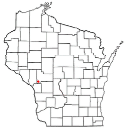 Location of North Bend, Wisconsin