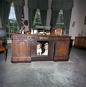 Caroline Kennedy Kerry Kennedy Resolute Desk a