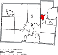 Location of Trenton in Butler County