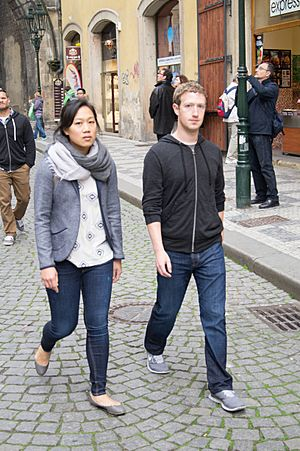 Mark Zuckerberg in Prague 2013