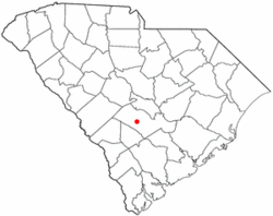 Location of Cordova, South Carolina