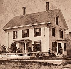 A house with two porches, Vinalhaven, Me, by William V. Lane crop
