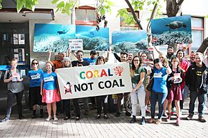 Coral not coal protest at India Finance Minister Arun Jaitley Visit to Australia (25563929593)
