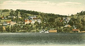 George's Mills from Lake Sunapee, NH