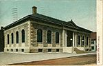 Lewiston public library postcard ME