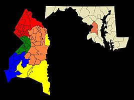 Prince George's County Maryland Regions