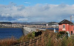 Tay Rail Bridge and Signal Box Wormit 2
