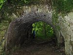 Vaulted entrance to Yester Castle