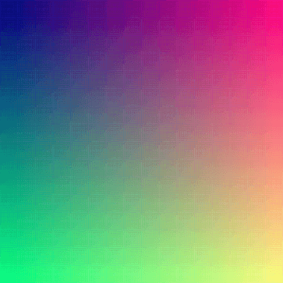When viewed in full size, this image contains about 16 million pixels, each corresponding to a different color on the full set of RGB colors. The human eye can distinguish about 10 million different colours