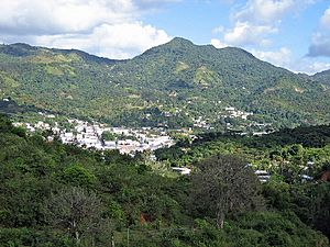 View of Adjuntas from a nearby mountain.