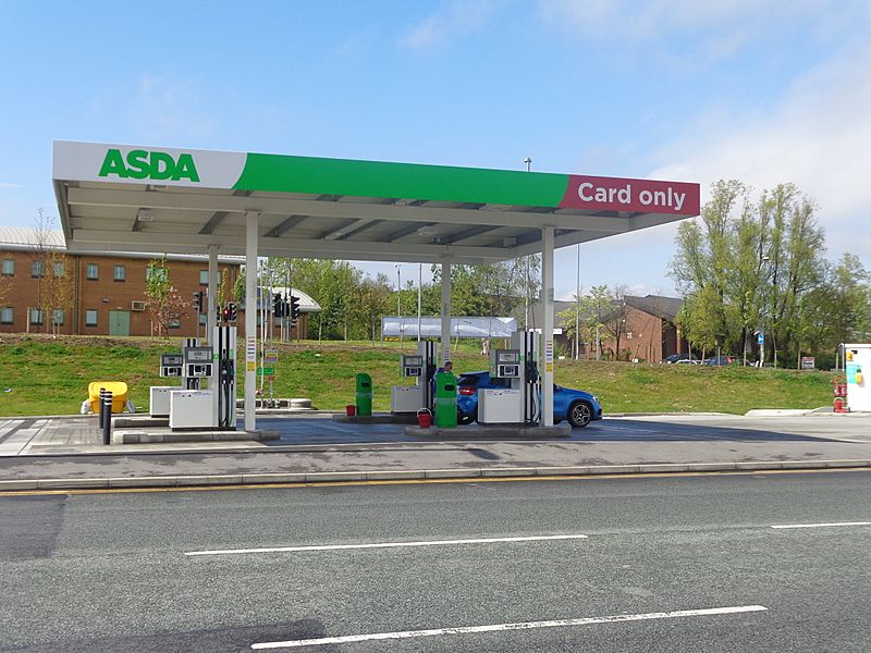 Asda self service petrol station, Middleton, Leeds (3rd May 2015)