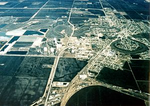 Crookston Minnesota aerial view