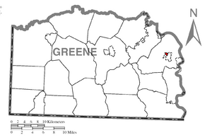 Location of Carmichaels in Greene County