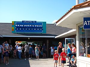 Michigan's Adventure WildWater Adventure entrance sign (7768985150)