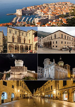 Montage of major Dubrovnik landmarks
