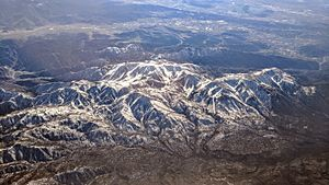 Mount San Gorgonio and Banning aerial