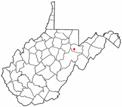 Location of Parsons, West Virginia