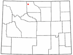 Location of Byron, Wyoming