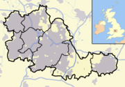 West Midlands outline map with UK