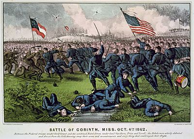 Battle of Corinth, Currier and Ives