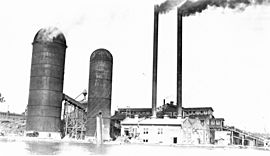 Brooks Scanlon Lumber Company, near Bend, Oregon, showing two burners and a general view of the plant (3466775282)