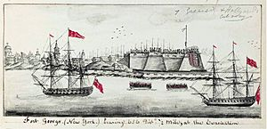 Fort George, New York. Evacuation 24 November 1783 (maritime journal of Robert Raymond) 092631