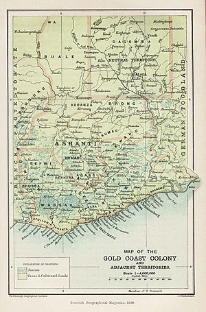 Gold Coast Map 1896