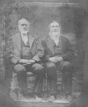 Ichabod Comstock (right) and John Comstock (left)