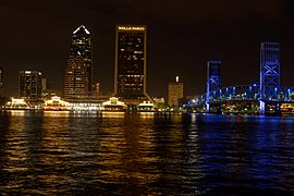 Jacksonville Landing and surrounding area